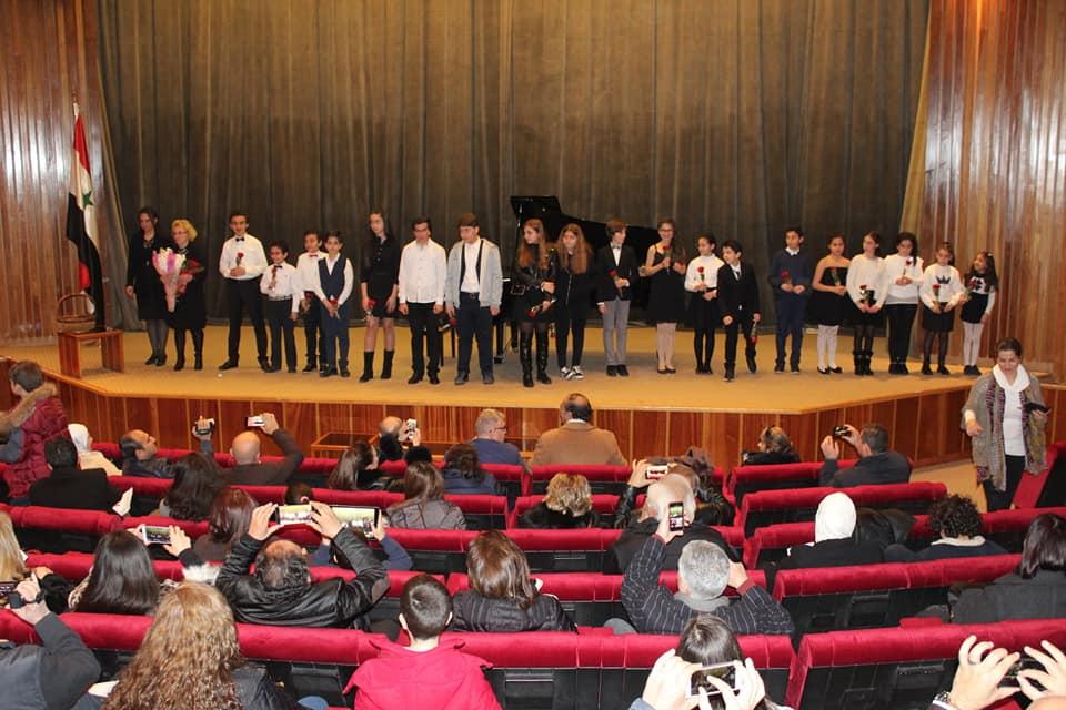 حفل لطلاب معهد صلحي الوادي للموسيقا في مكتبة الأسد الوطنية