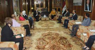 الدكتورة لبانة مشوّح #وزيرة_الثقافة  بزيارة إلى #مكتبة_الأسد_الوطنية