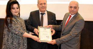 مركز تطوير الإدارة و الإنتاجية في وزارة الصناعة  يستلم  الشهادة الدولية الآيزو 9001/ لعام 2015 لجودة الإدارة