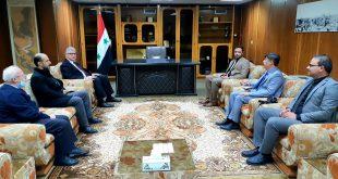 وفد السفارة الأفغانية في الأردن في زيارة إلى مكتبة الأسد