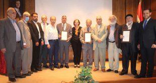 وزارة الثقافة تكرم الفائزين بجائزة الدولة التقديرية لعام 2021